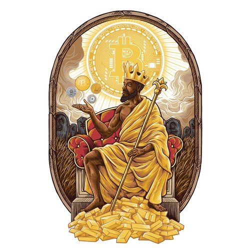 Crypto themed redention of mansa Musa (the richest man who ever lived)