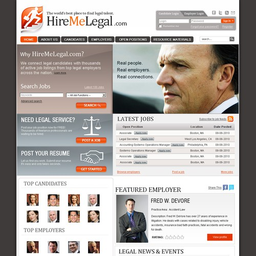 PlanBLegal.com is now HireMeLegal.com - needs design & logo!
