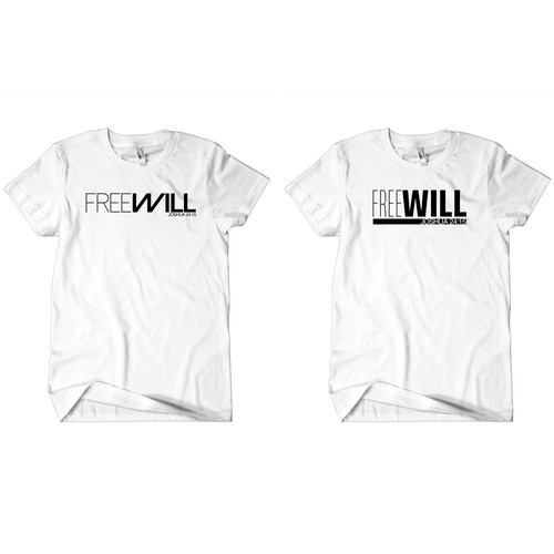 Modern, Creative, Minimalistic T-shirt Design for FreeWill