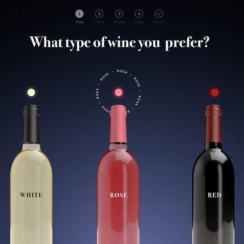 Website design for wine selection