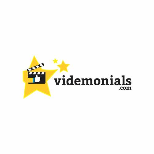 Clapper logo concept for VideMonials