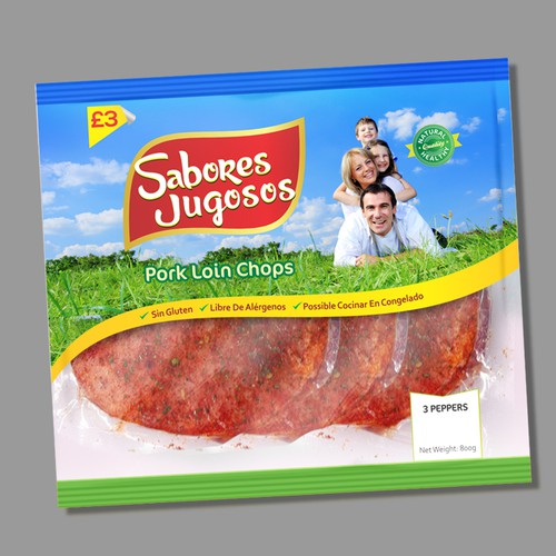 PACKAGING FOR A PLASTIC BAG CONTAINING SLICED MEAT