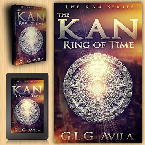 "Cover design for ""The Kan - Ring of Time"""