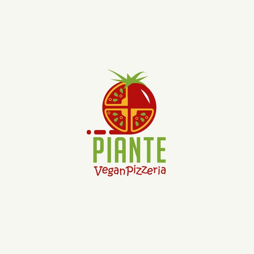 logo design for vegan Pizzeria