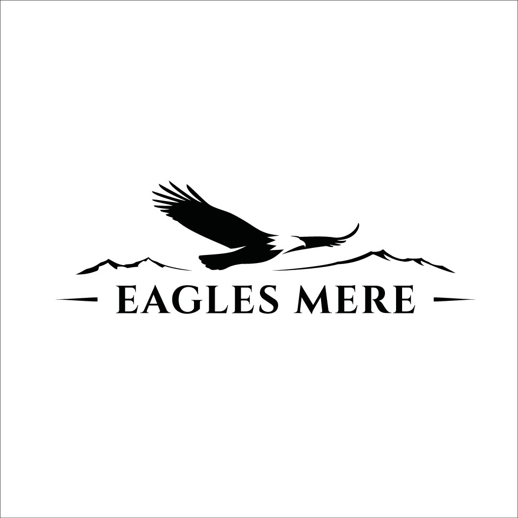 Create artwork to be etched into a stone/granite sign for Eagles Mere neighborhood