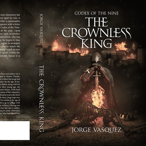 """The Crownless King"" book cover"