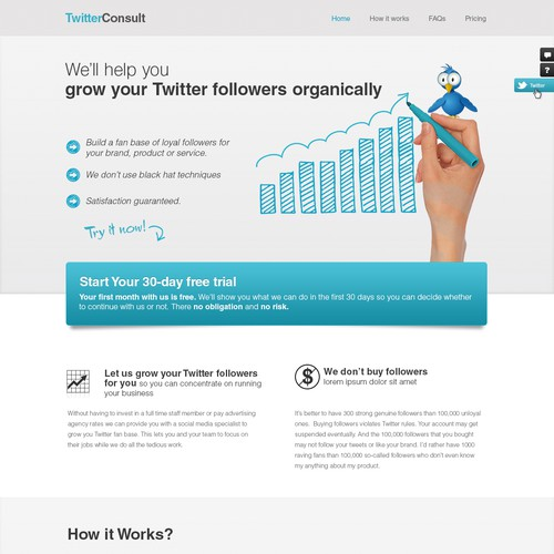 New website design wanted for Twitter Consult