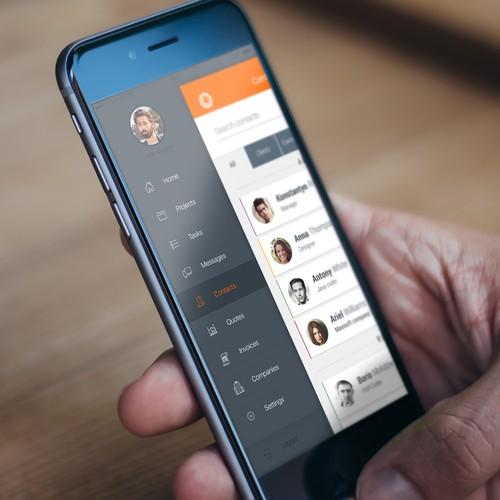 ProWorkflow mobile app design