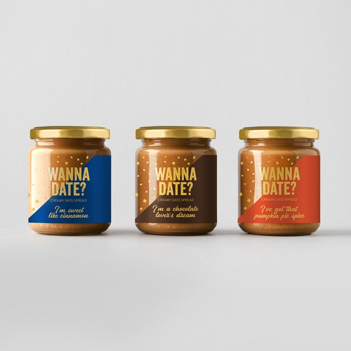 Dates spread label design