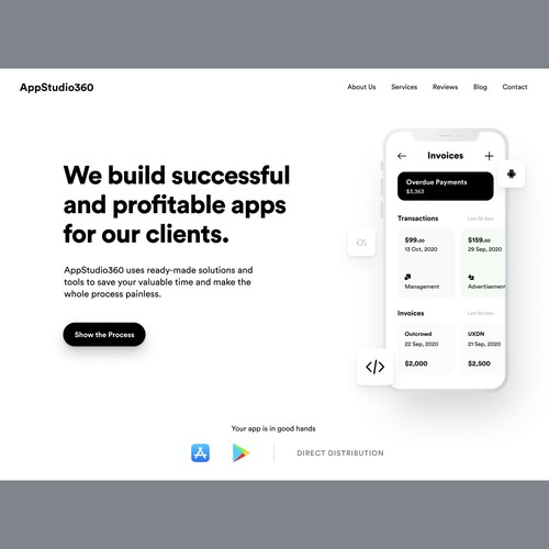 AppStudio360 - Header