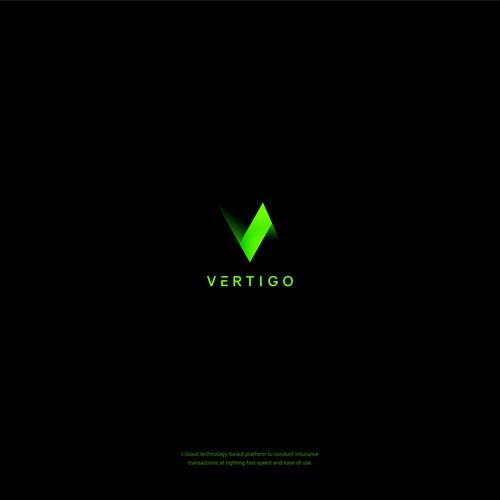 Futuristic logo for tech company.