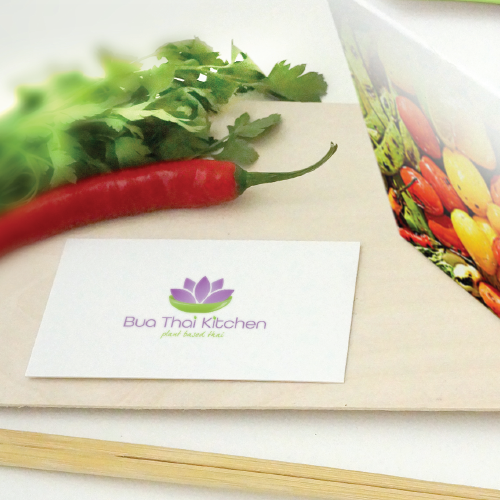 Thai healthy food logo