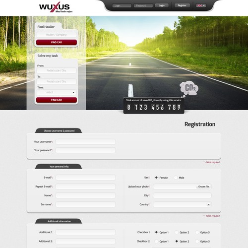 Webdesign for Wuxus