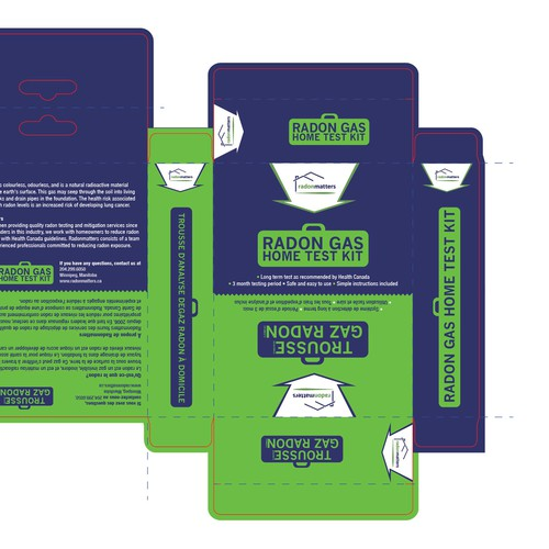 Packaging Design for Gas Home Test Kit