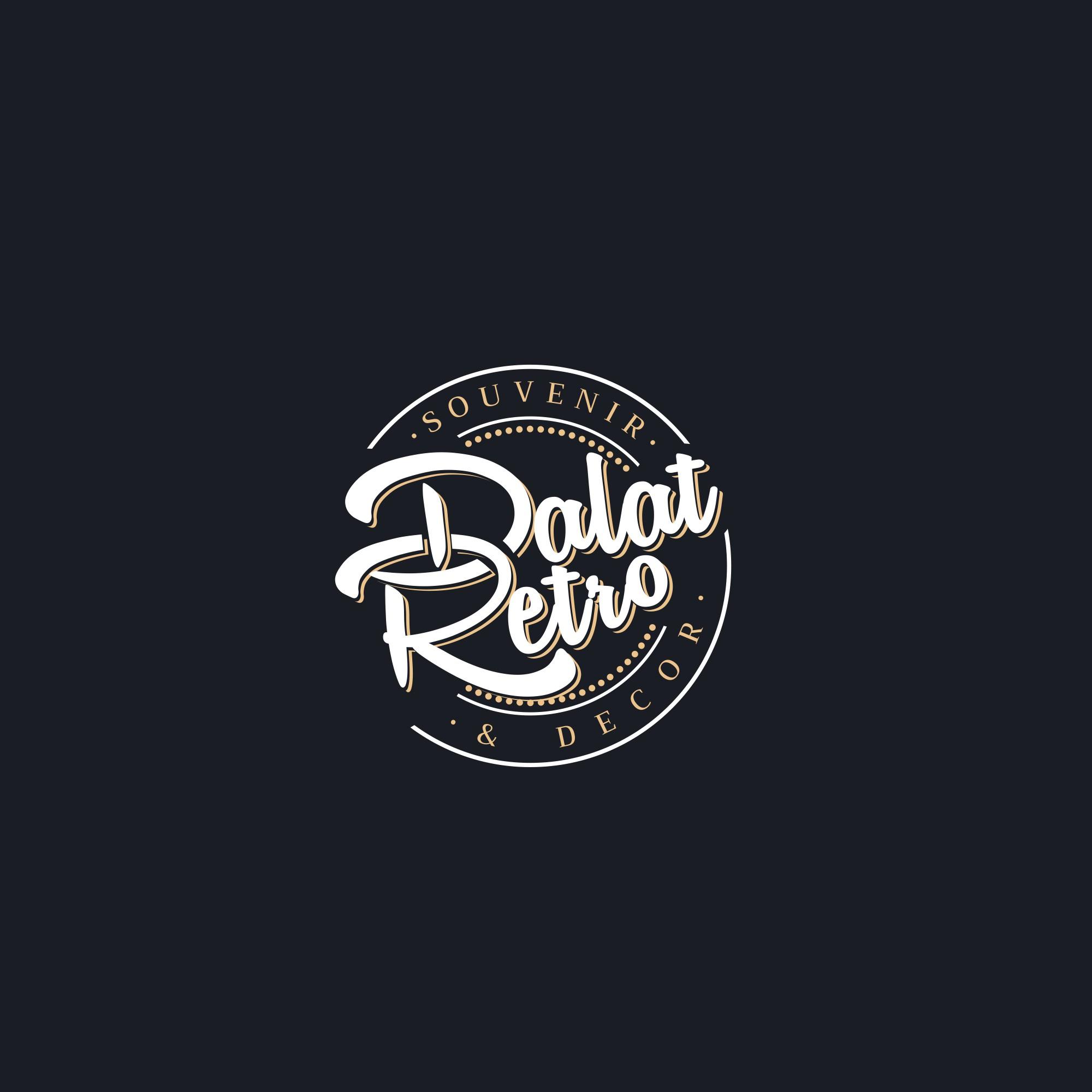 Create a vintage logo for Dalat Retro