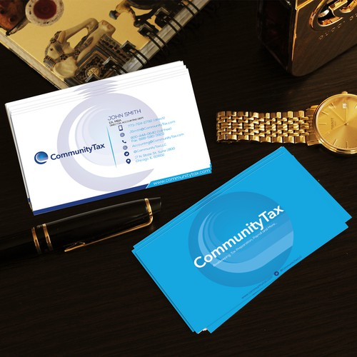 Business card for Community Tax
