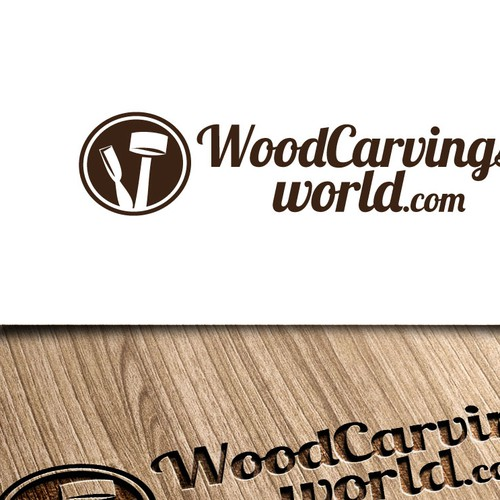 "Create logo for online shop ""Woodcarvings-World.com"""