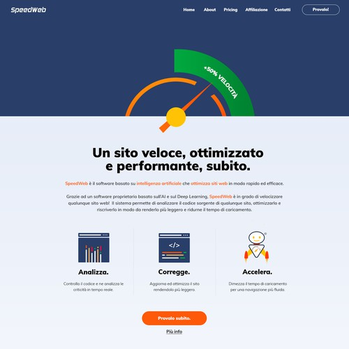 Homepage design for Speedweb !