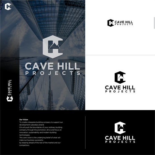 Logo concept for cave hill projects