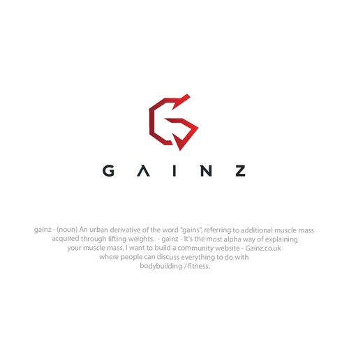 Gainz - bodybuilding / fitness - logo