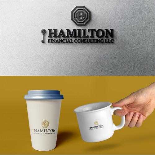 Hamilton financial business card and logo design