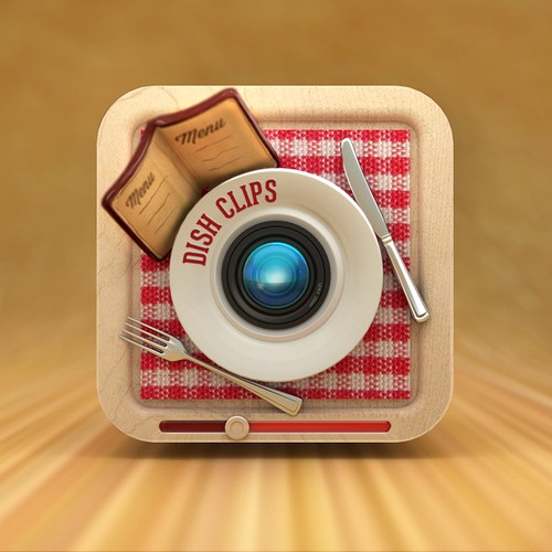 iOS App icon for DishClips Restaurant Guide