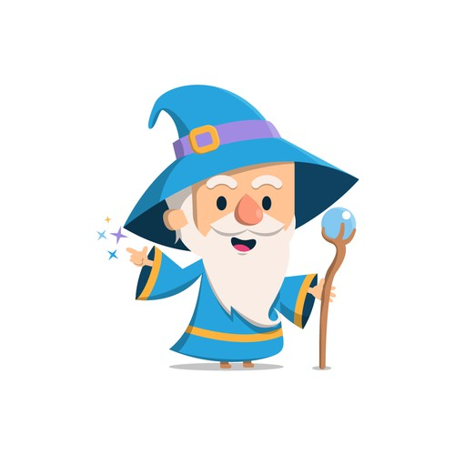wizard mascot design