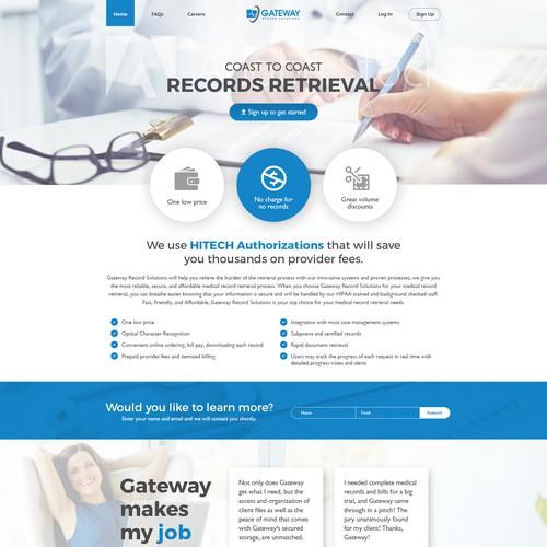 Medical record keeping website