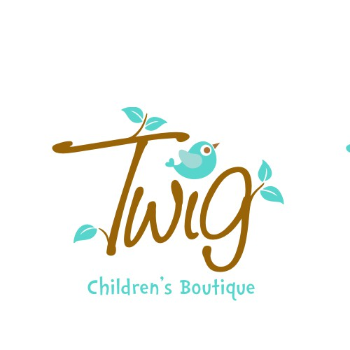 A playful logo for a children's boutique