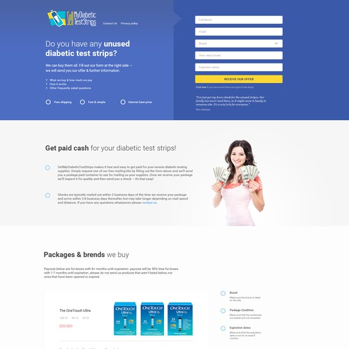 Retail page design