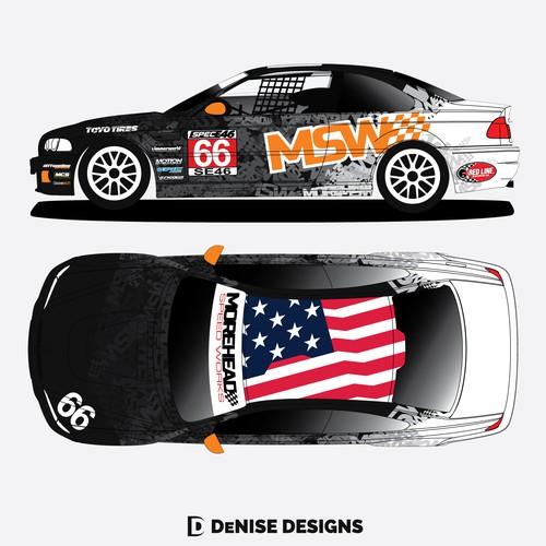 MSW BMW Race Car Vehicle Wrap
