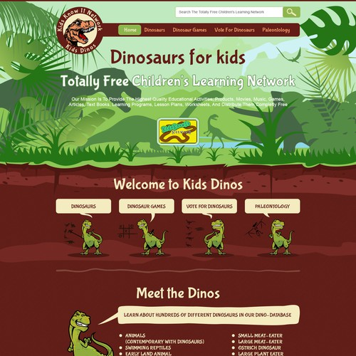web page for dino site