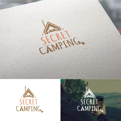 Logo design for a glamping business