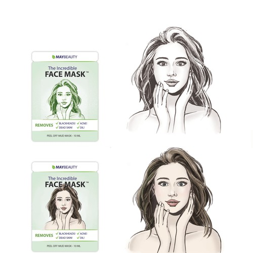 Character design for a skincare brand