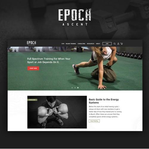 Web design for gym and online training platform