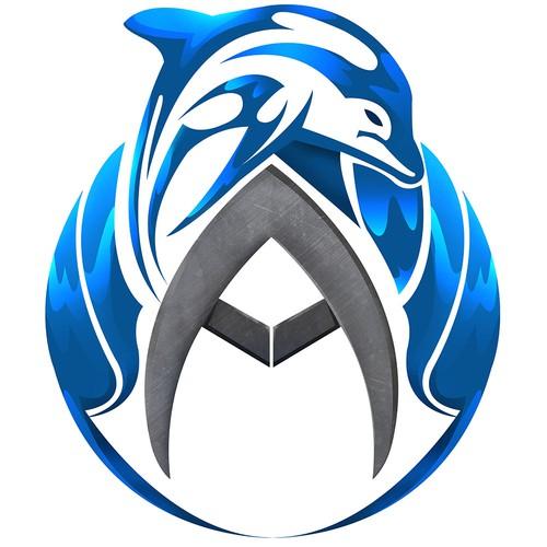 The logo/emblem of aquatic fantasy sport novel