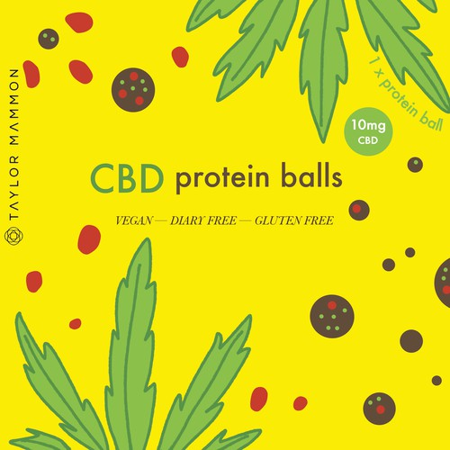 Calm but eye-catching and vibrant packaging for CBD product