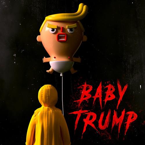 Halloween IT inspired Baby Trump Poster