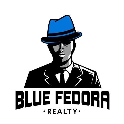 Blue Fedora Logo Design concept