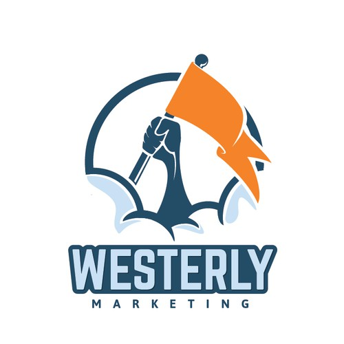 Design the creative face for Westerly Marketing, a firm that prizes originality