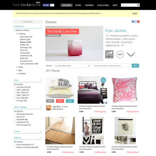 Retail start-up needs elegant, minimal website