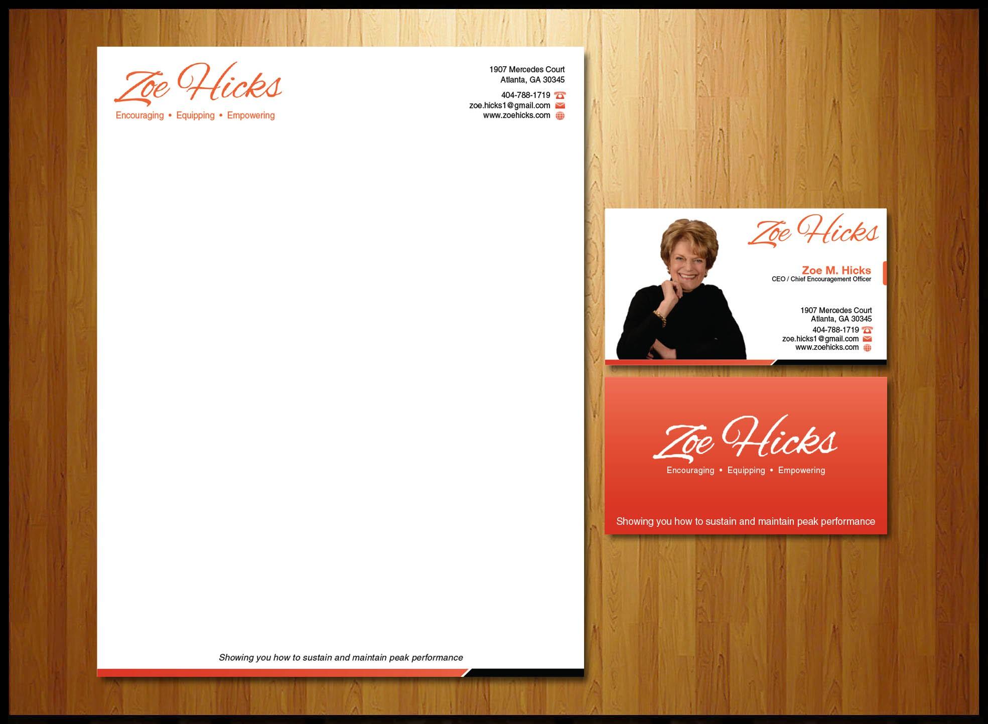create a winning logo for Zoe M. Hicks
