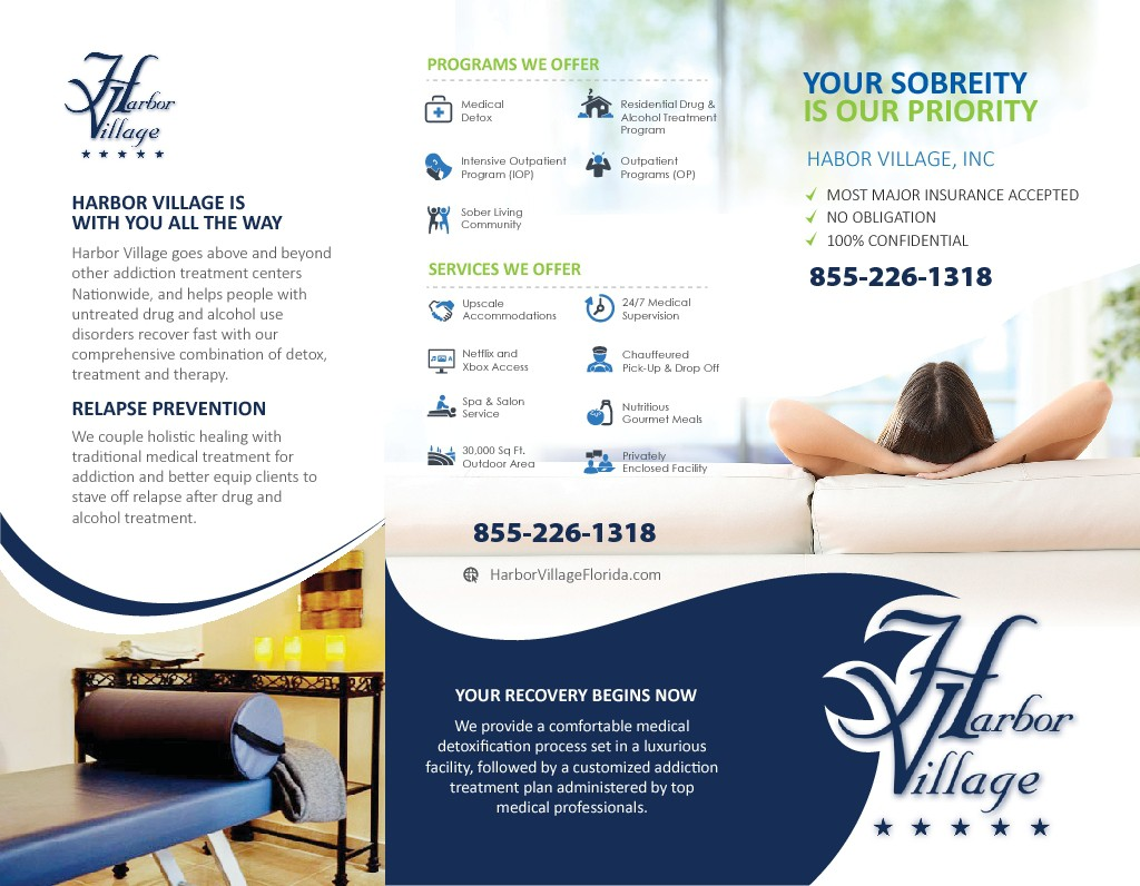 Brochure design needed for Substance Abuse Treatment Facility