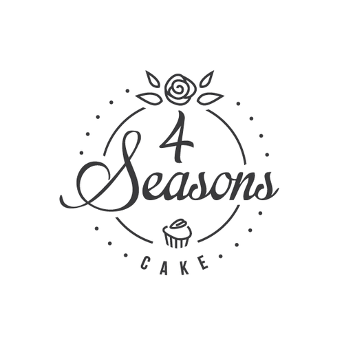 Simple yet elegant logo for a floral cake shop
