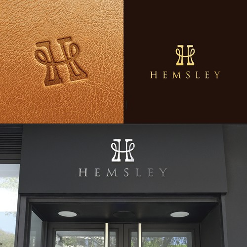 Logo for luxury notebook sleeve.