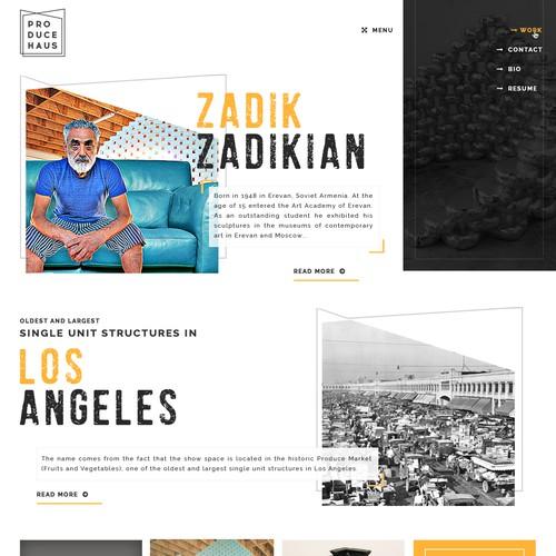 Parallax website for art work business