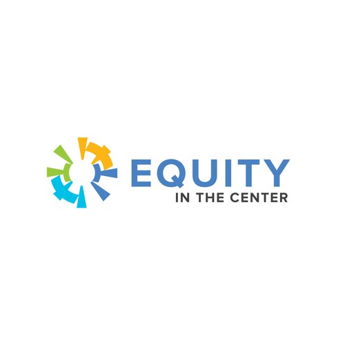 Colorful logo design for racial equality non profit