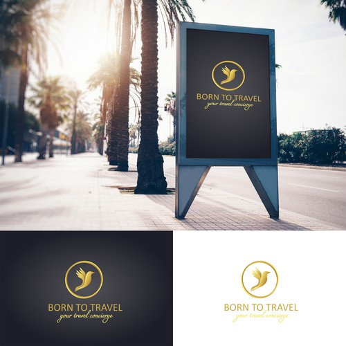 Logo concept for a travel agency