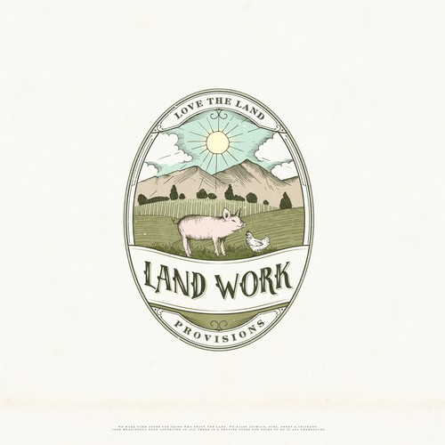 Vintage logo concept for agriculture supplier company