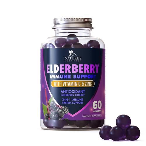 Label design for a gummies supplement